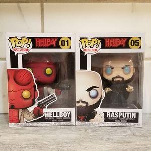 FUNKO Hellboy and Rasputin Pair